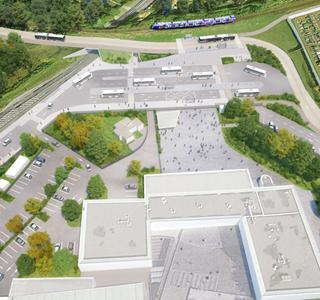 Focus parking du collège Louis Braille / Situation projetée