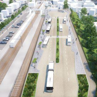 Terminus nord du TCSP EVE (Future gare routière sud) – pôle d'échanges d'Esbly